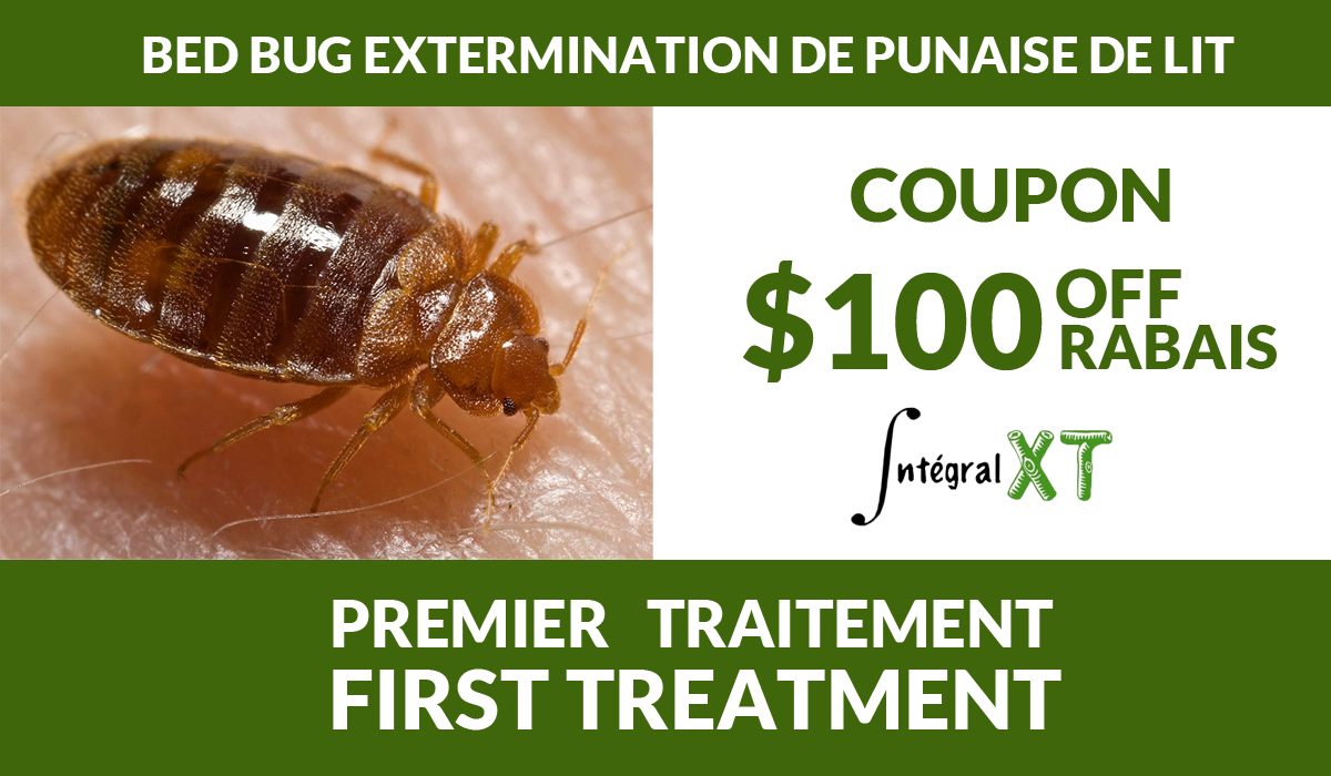 $100 OFF for a bed bug extermination treatment